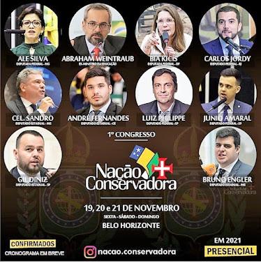 19, 20 e 21 de novembro: Belo Horizonte