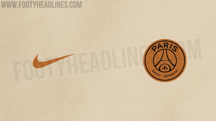 new arrival b32f1 d0e6b White and Gold Nike PSG Away Kit Concept by Settpace - Footy ...