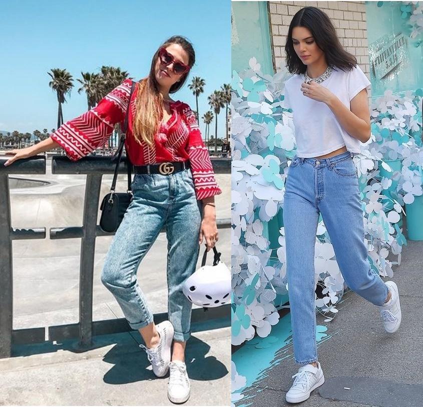 3e719b4dd9 Fabi Santina, Kendall Jenner A diva inspiradora Fabi Santina apostou em mom  jeans com a barra dobrada, cinto preto para dar aquele toque especial e ...