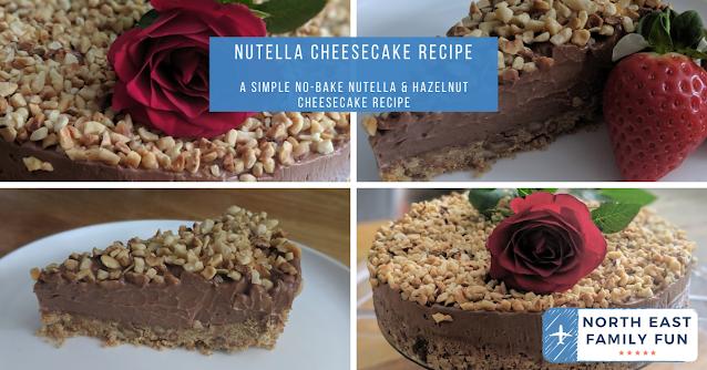 Easy Hazelnut & Nutella No-Bake Cheesecake Recipe