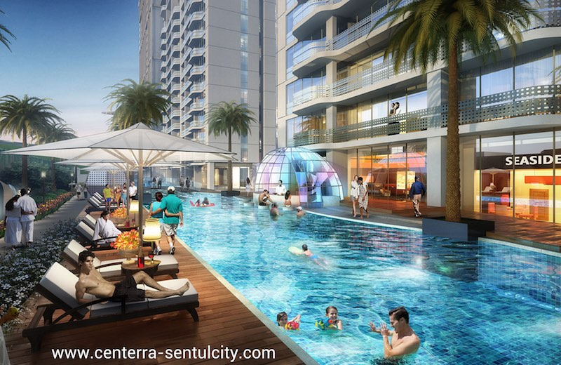 Saffron Sentul City Apartment Swimming Pool