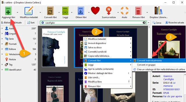 conversione di ebook in mobi