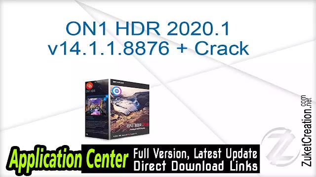 ON1 HDR 2020.1 v14.1.1.8876 + Crack