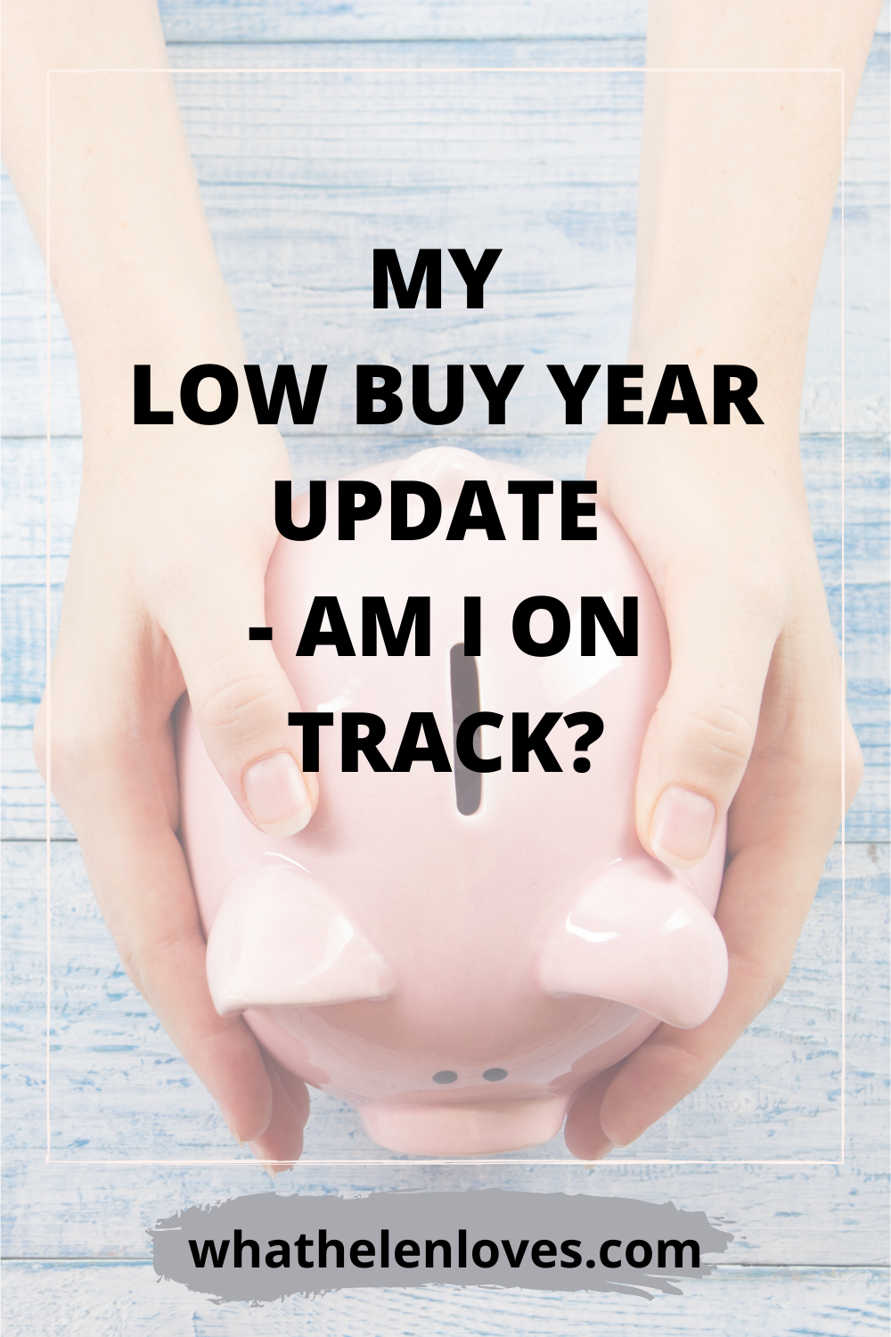 Pinterest pin for a post about my low buy year update
