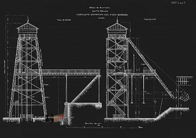 Planos del Pozo Bárbara (Barruelo de Santullán) 1873