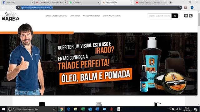 Senhor Barba Cosméticos lança seu e-commerce