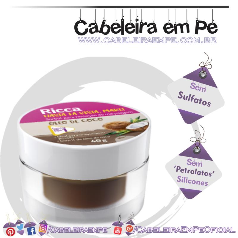 Sorbet Remoção De Maquiagem Óleo De Coco  - Ricca