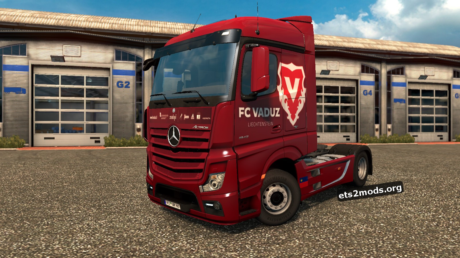 FC Vaduz Skin for Mercedes MP4