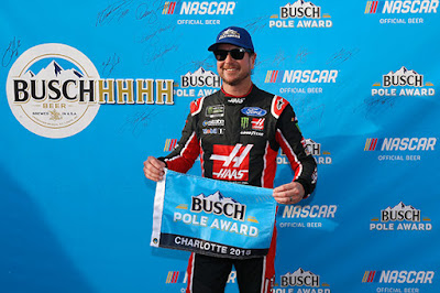 Pole winner, Kurt Busch leading the first seven laps of the race.