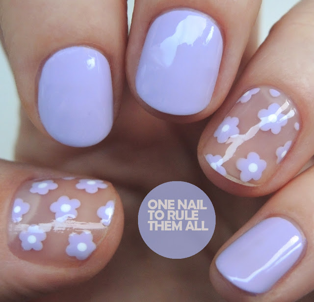 One Nail To Rule Them All Barry M Nail Art Pens Review: One Nail To Rule Them All: Lilac Negative Space Flowers