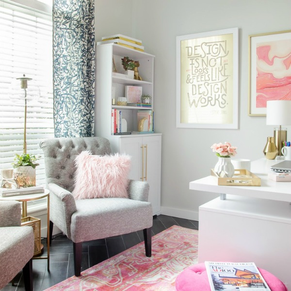 create a functional and fabulous home office