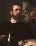 Arnold Böcklin: Selbstbildnis mit fiedelndem Tod. 1872