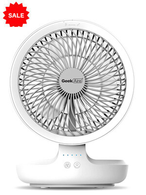 SMARTDEVIL Portable Rechargeable Fan