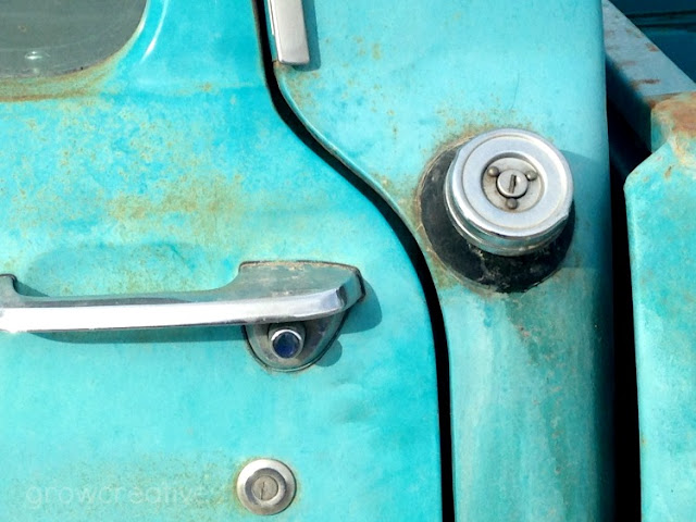 Rusty turquoise ford truck photos: growcreative