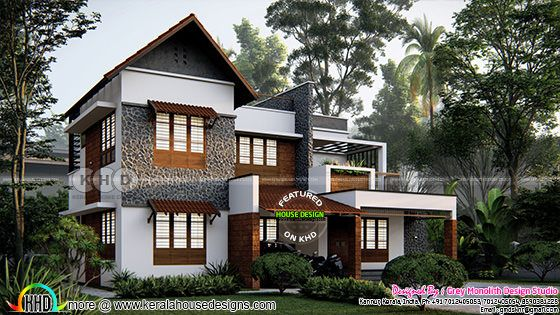 Beautiful 4 bedroom Kerala house design