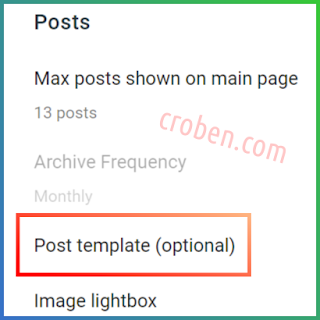 Create A Post Template In Blogger Step 5