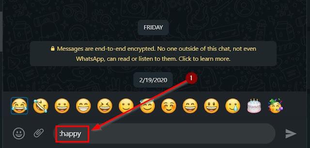 cara cepat ketik emoji di wa web