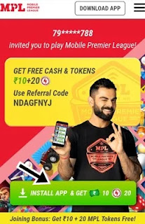 click install app and get 10 and 20 tokens