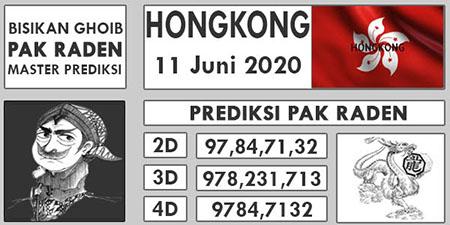 Prediksi HK Kamis 11 Juni 2020 - Pak Raden