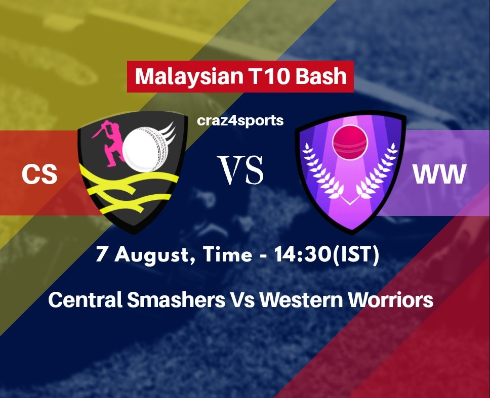 CS VS WW Dream11 prediction | Central Smashers Vs Western Worriors | Malaysian T10 Bash | Top picks | Players stats | Pitch Report | Dream Team