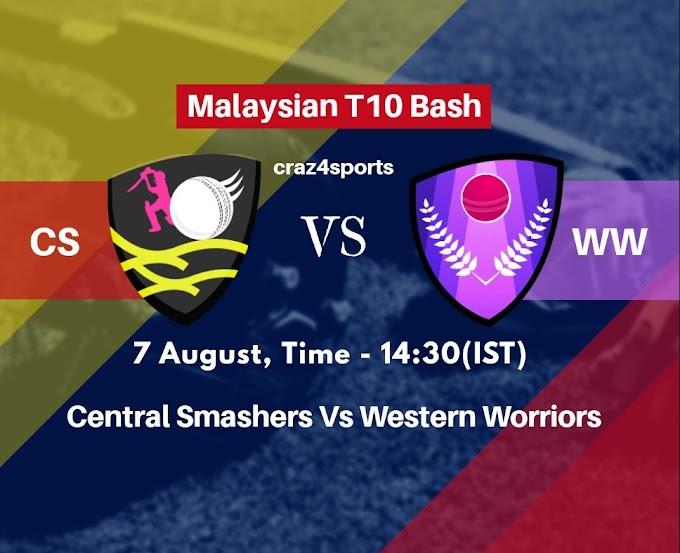 CS VS WW Dream11 prediction | Central Smashers Vs Western Worriors | Malaysian T10 Bash | Top picks | Players stats | Pitch Report | Dream Team