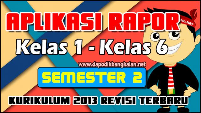 Aplikasi Raport K13 SD Lengkap Semester 2 Revisi 2019