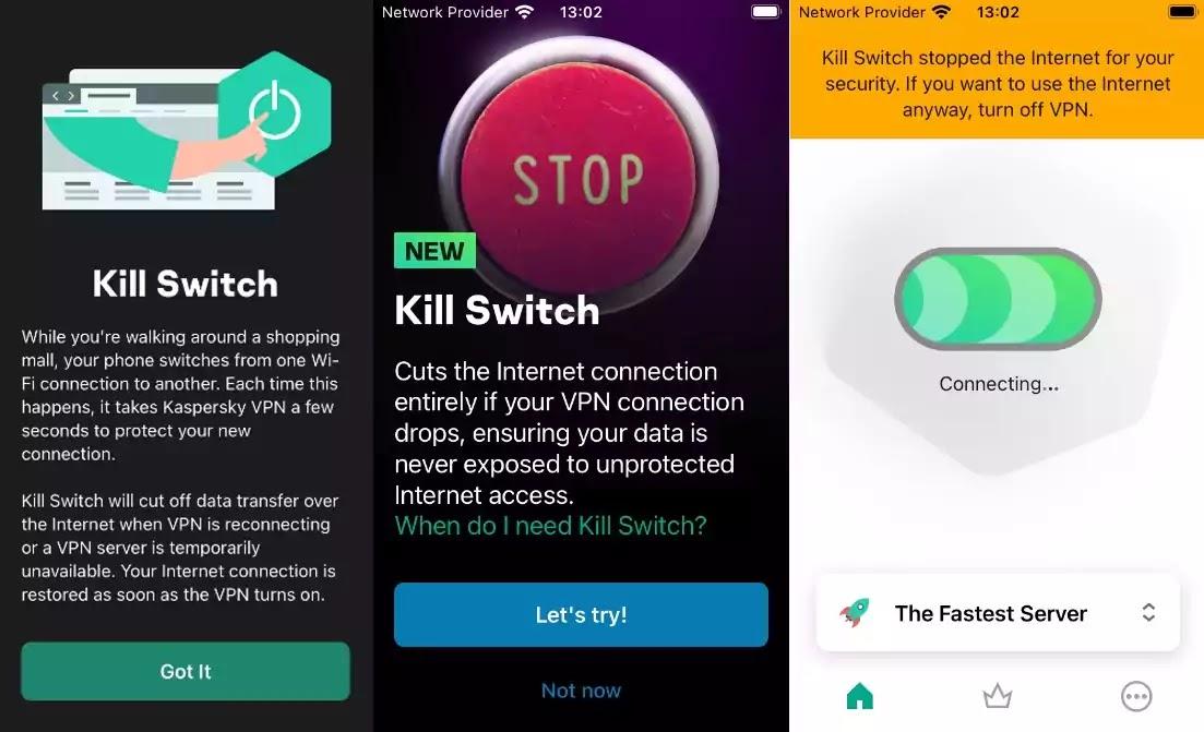 Kaspersky VPN Secure Connection - Kill Switch