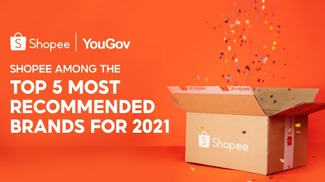 Shopee Rises Up the Ranks in YouGov's Most Recommended Brands for 2021