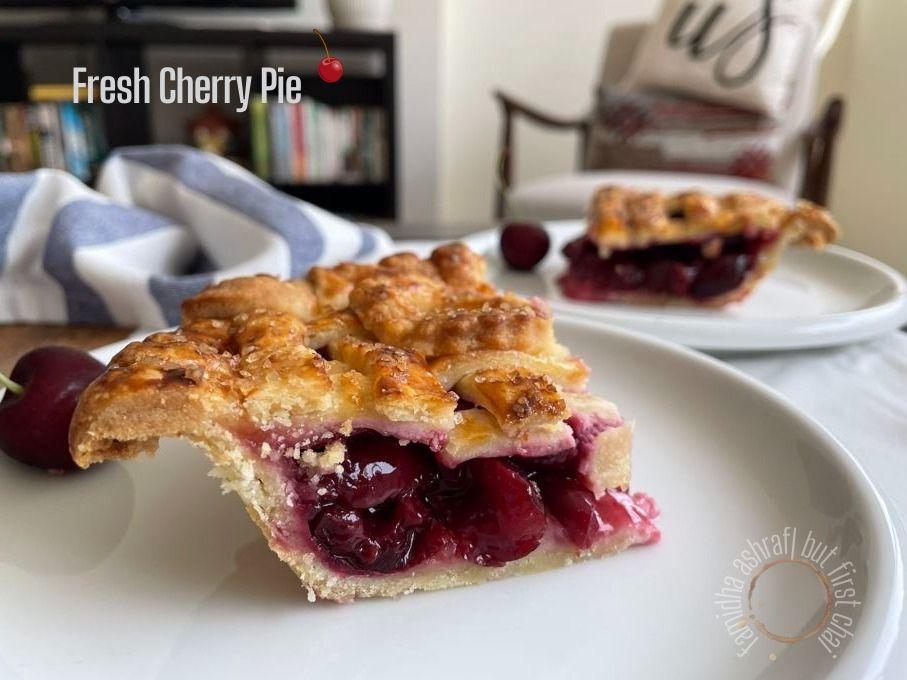 Fresh Cherry Pie Slice