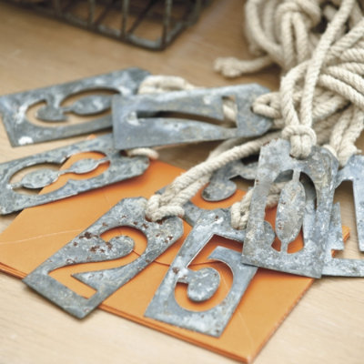 Perfect For Your Rustic Wedding These Metal Table Numbers Are Easy To Make With Materials You Have Around The House No Required