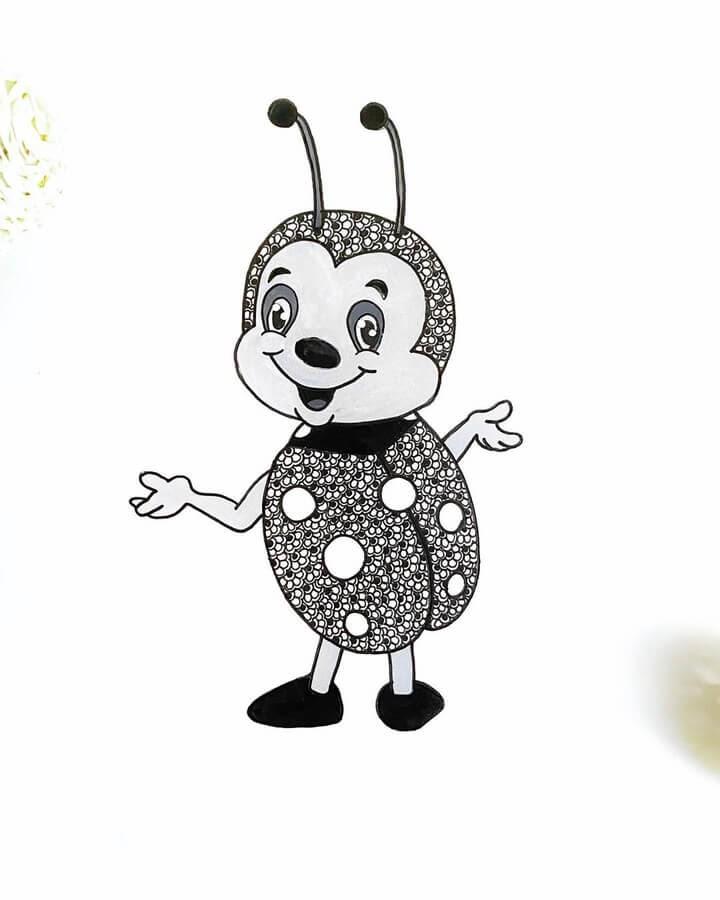 04-A-Ladybird-or-Ladybug-Chama-Poddar-www-designstack-co