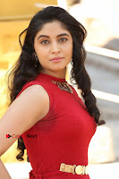 Telugu Actress Zahida Sam Latest Pos in Red Gown at RF Films New Movie Opening  0054.JPG