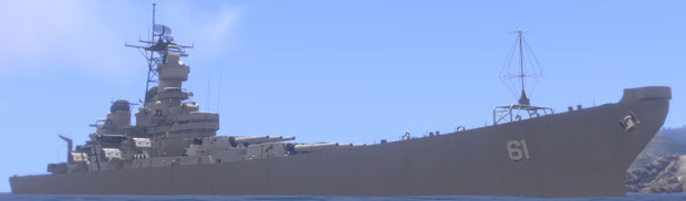 操舵出来て 16 インチ主砲も撃てる Arma 3 用の戦艦 Iowa アドオン