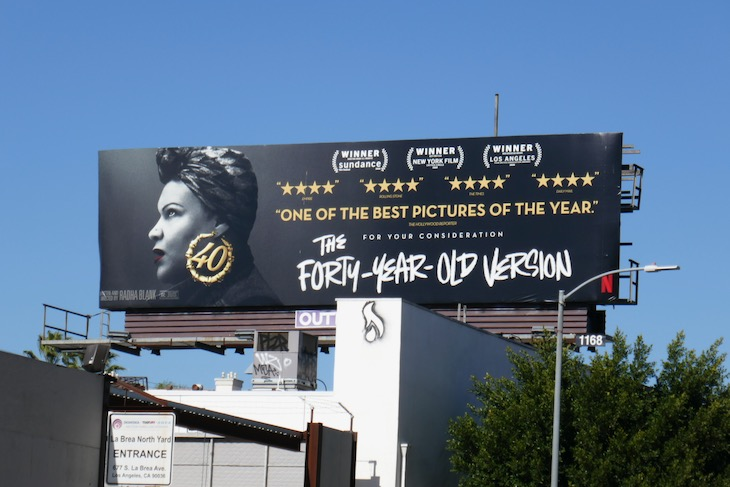 Forty Year Old Version FYC billboard