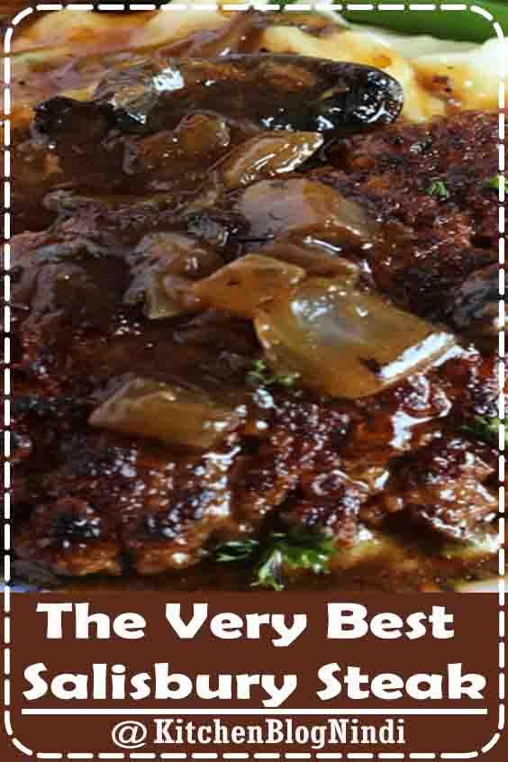 4.8★★★★★ | Comfort classic, the BEST Salisbury steak recipe made with ground beef in a rich, meaty mushroom gravy. Better than mom used to make! #VeryBestSalisbury #Steak #Food