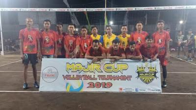 """Perdana, Turnamen Bola Voli """"Majir Cup 2019"""" Resmi Dimulai"""