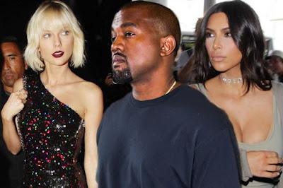 Taylor Swift and Kim Kardashian at war