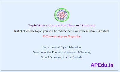 Topic Wise e-Content for Class: 10