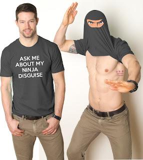 Ninja Face T Shirt Cool Ninja Disguise Funny T-Shirt