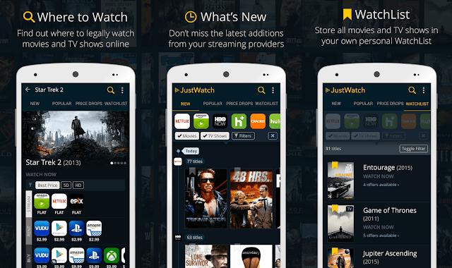 افضل تطبيق ايفون للافلام JustWatch