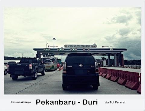 Berapa sih biaya menggunakan Tol Permai ke Duri ?