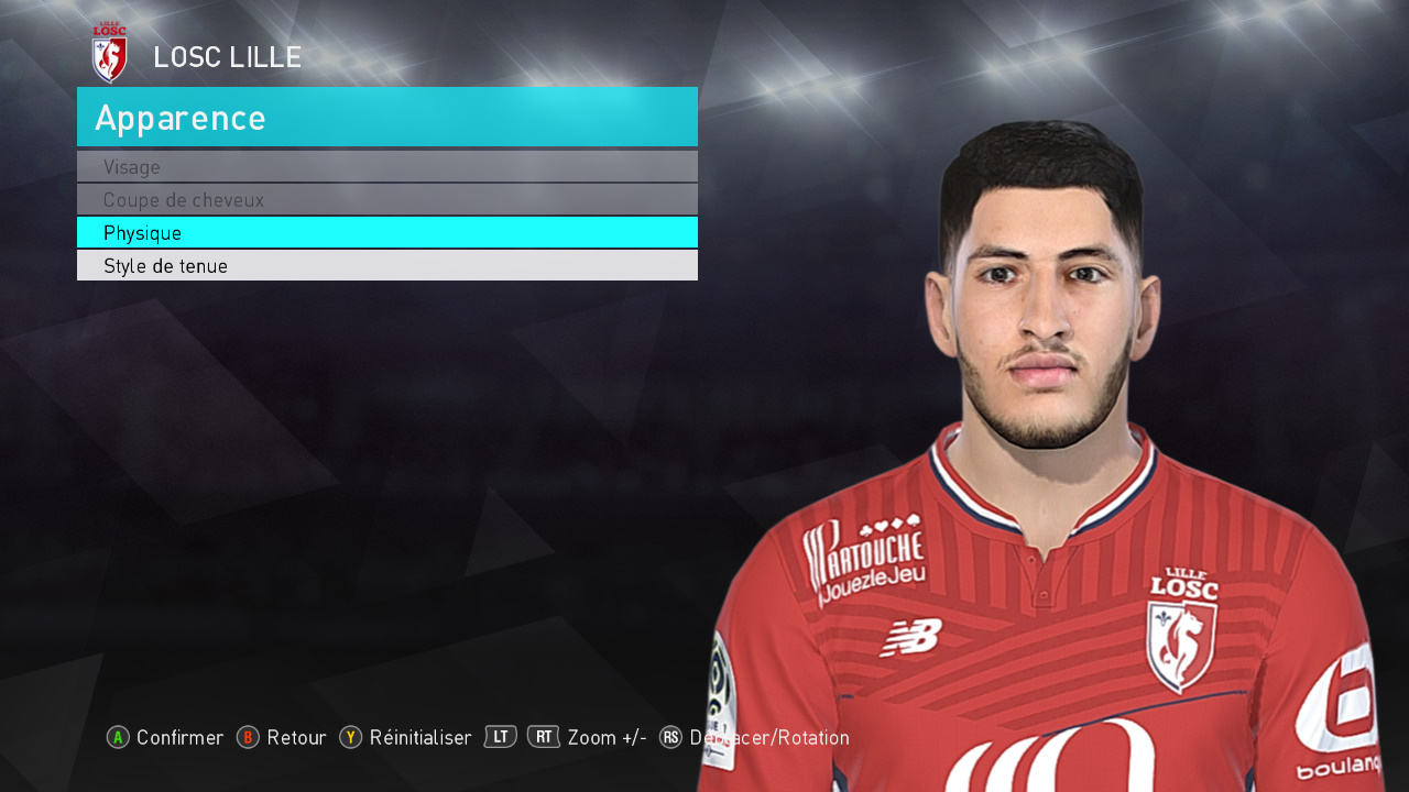 pes 2018 yassine benzia losc lille face by tiitoo. Black Bedroom Furniture Sets. Home Design Ideas