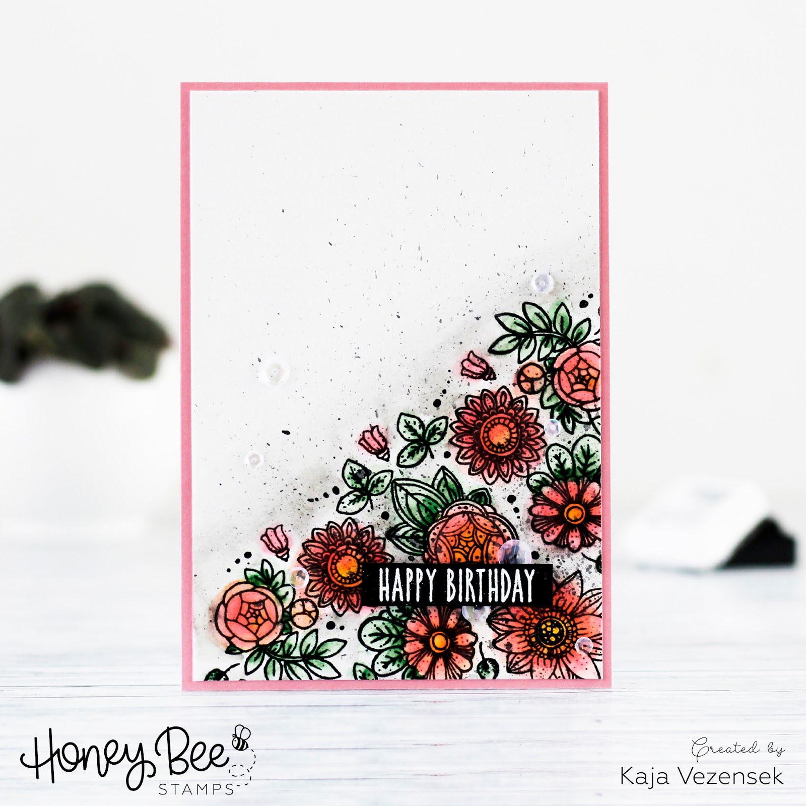 Super quick watercoloring | HONEY BEE