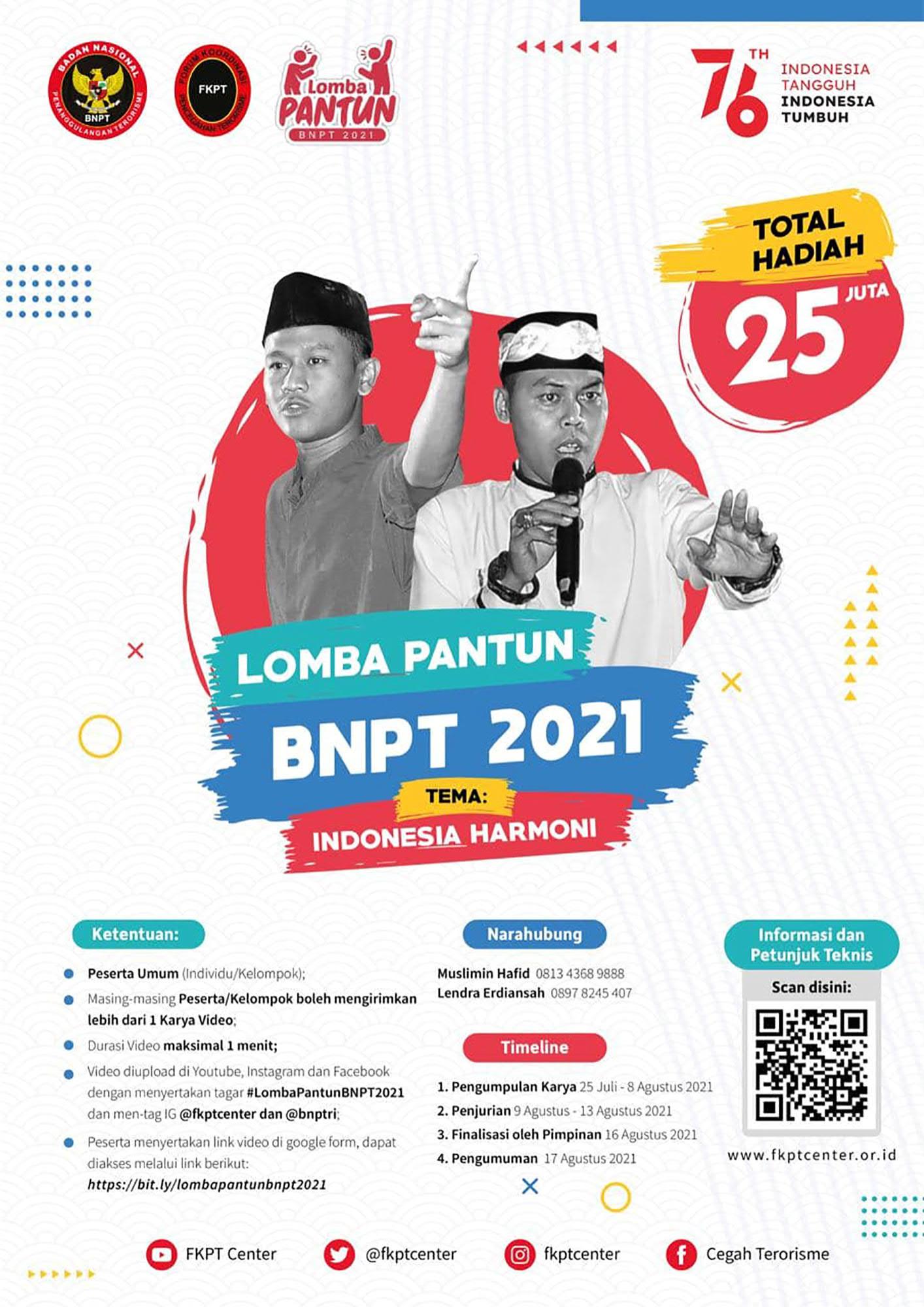 Lomba Pantun Berhadiah Uang Tunai Jutaan Rupiah oleh BNPT