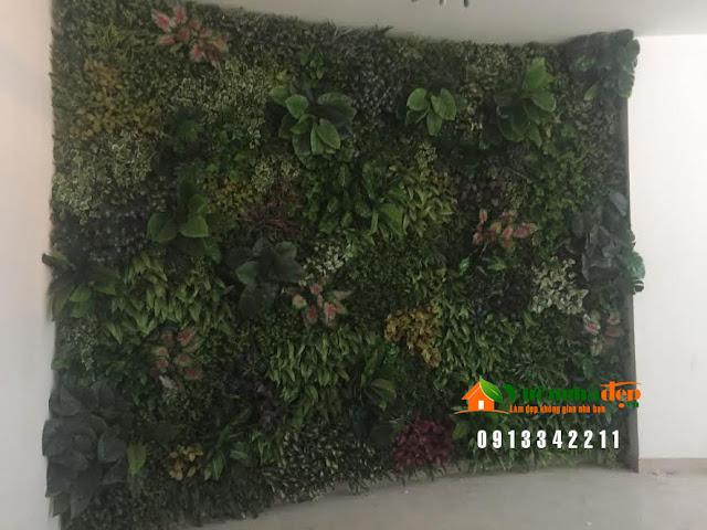 Thi Công tường cây giả - Đẹp như tường cây thật - 6