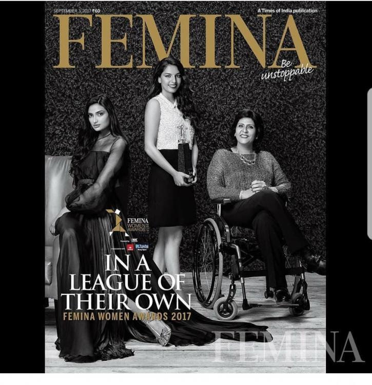 Athiya Shetty Graces on The Cover of Femina Magazine September 2017 Issue