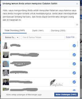 permintaan pesan undangan like halaman facebook