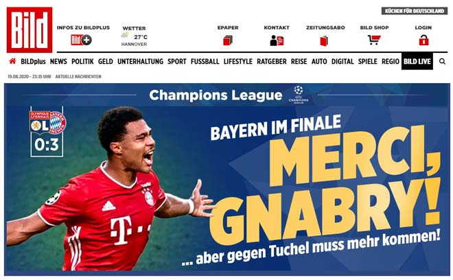 Bayern hạ Lyon vào chung kết Cúp C1: Báo chí vẫn tiếc cho Lewandowski