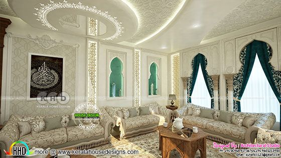 Living room decor with false ceiling
