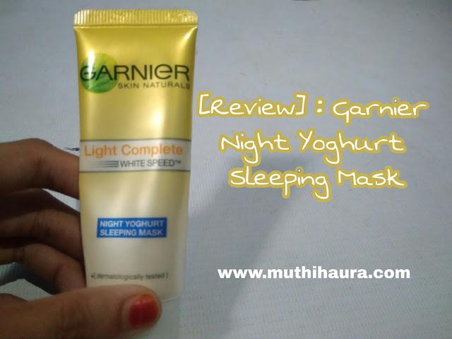 Garnier sleeping mask